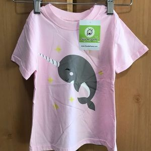 Pink Norwhale Toddler T-Shirt